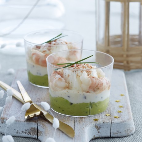 Oeuf mollet langoustines Crème aux truffes
