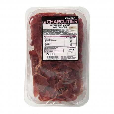 - Pétales de viande des grisons