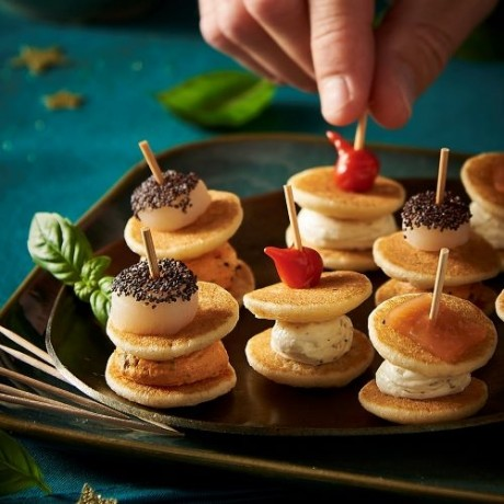 Assortiment mini Blinis de fêtes