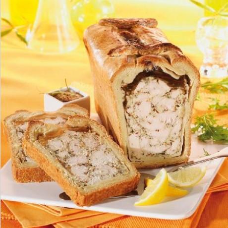 Demi-pâté en croûte poulet et moutarde au citron