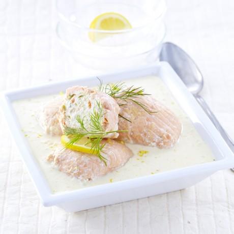 Paupiettes de saumon sauce beurre citron, 1 kg 4 parts