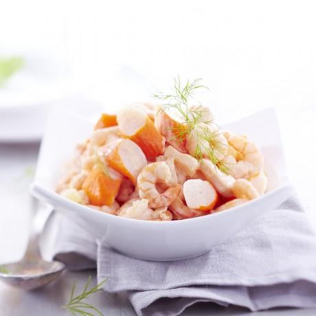 Salade Cocktail de crevettes , surimi et ananas 1,5 kg
