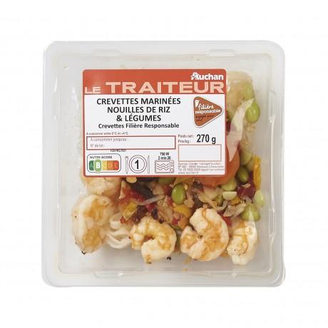 - Crevettes wasabi nouilles de riz