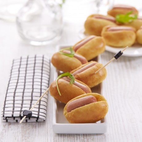 Mini hot dogs de volaille cocktail