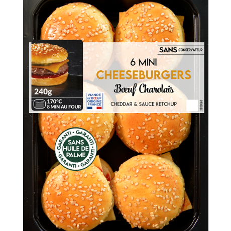 Mini cheeseburgers au boeuf charolais