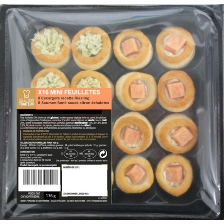 - Mini-feuilletés apéritif panachés