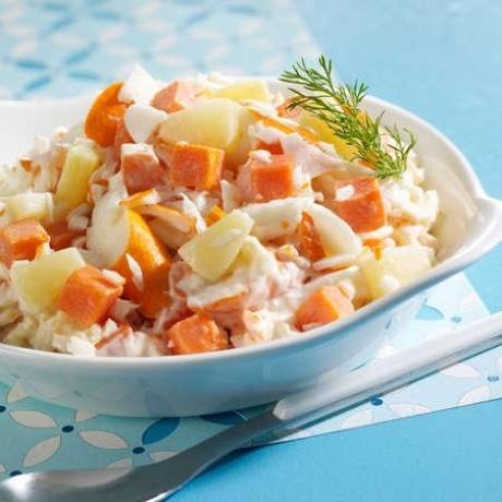 Salade Alaska, duo ananas et carottes au surimi 1,5 kg