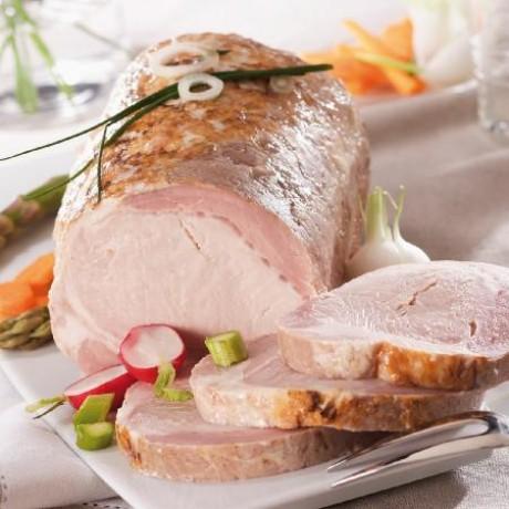 Roti de porc cuit entier
