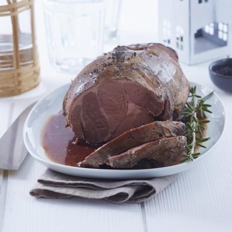 Gigot d'agneau cuit entier, sans os