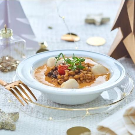Cassolette Saint-Jacques et homard
