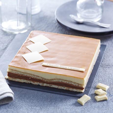 - Entremet chocolat blanc caramel 8 personnes