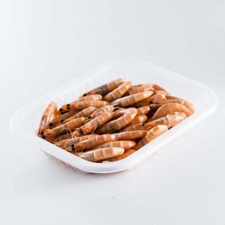 - Crevettes entières cuites calibre 30/40