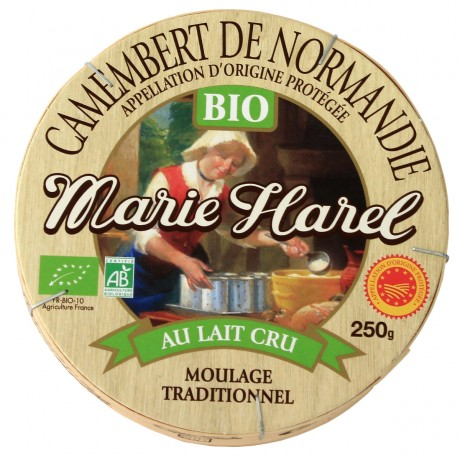 - Camenbert de Normandie Bio au lait cru AOP Marie Harel