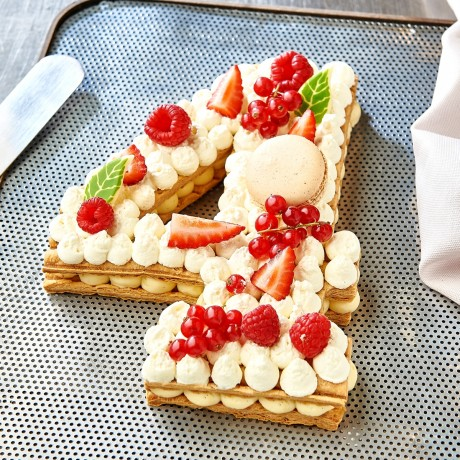 - Chiffre 4 Number cake millefeuille