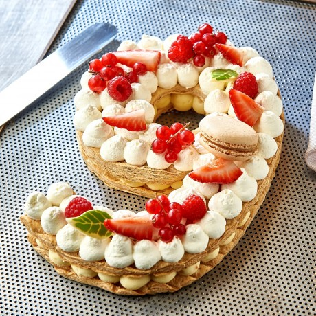 - Chiffre 9 Number cake millefeuille