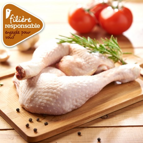 - Cuisse de poulet blanc de Lyré Bio Filière responsable Auchan