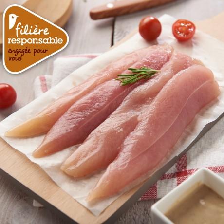 - Aiguillettes de poulet blanc de Lyré Bio filièreresponsable Auchan