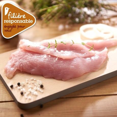 - Escalope de dinde de Lyré Bio Filière responsable Auchan