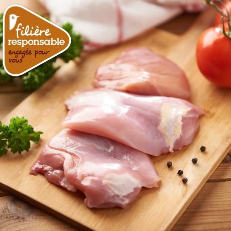 - Escalope de cuisse de poulet Lyré Bio Filière responsable Auchan