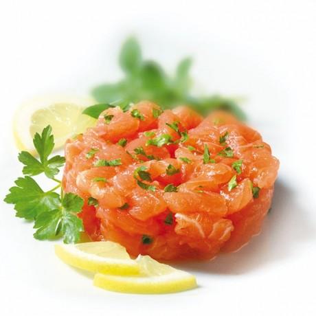 Tartare de saumon citron persil