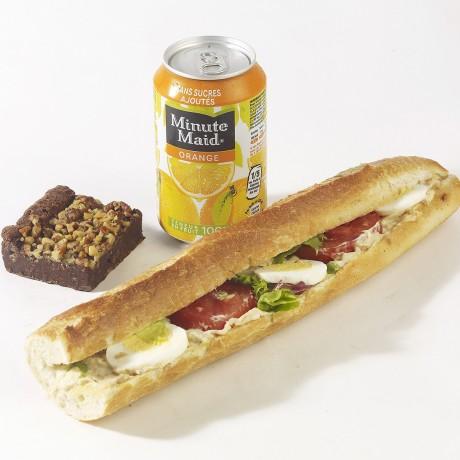 -Formule thon crudités Sandwich baguette + boisson + dessert