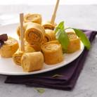 Mini-wraps jambon cru et pesto vert