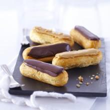 Mini-éclairs au café et au chocolat