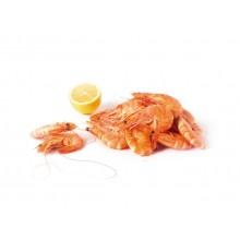 - Crevettes entières cuites calibre 25/35