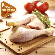 - Cuisse de poulet jaune de Lyré Bio Filière responsable Auchan